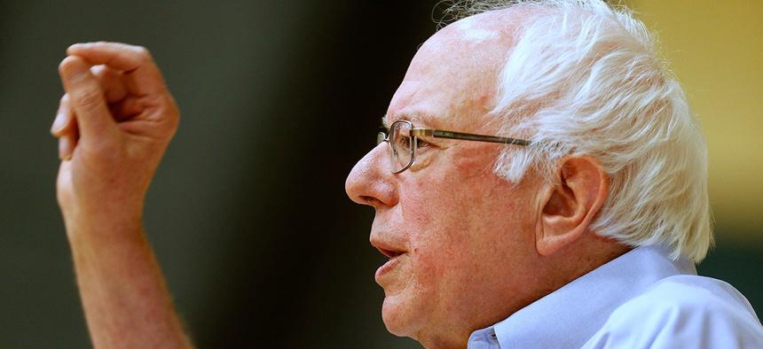 Sanders speaks Nashua Community College Saturday.