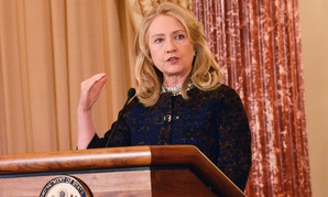 Clinton delivers remarks at the Partnership Meeting on Wildlife Trafficking in 2012.