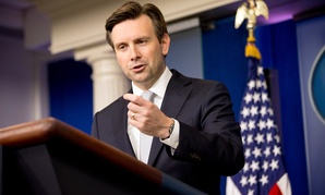 """""""Right now, the Interior appropriations bill in the House is jammed up because a sizable number of House Republicans are eager to protect the status of the Confederate flag on National Park Service grounds,"""" Josh Earnest said Thursday."""