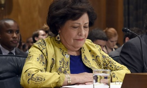 OPM Director Katherine Archuleta testifies before the Senate Homeland Security and Governmental Affairs Committee on June 25.
