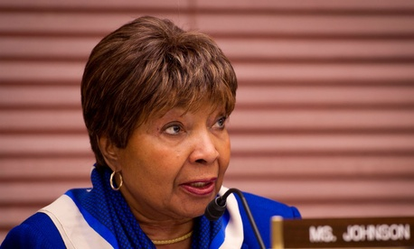 "Rep. Eddie Bernice Johnson, D-Texas, said that with Zinser's departure, she is ""hopeful that the Commerce IG's office has finally rid itself of one of its greatest obstacles to increasing its effectiveness, efficiency and aggressive oversight."""