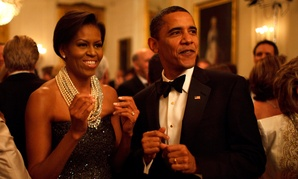 The Obamas dance to Earth, Wind and Fire at a reception in 2009.