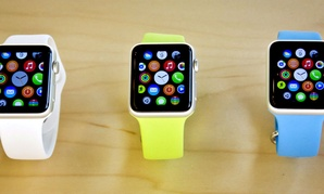 Apple Watches appear on display, Friday, April 10, 2015, in New York.