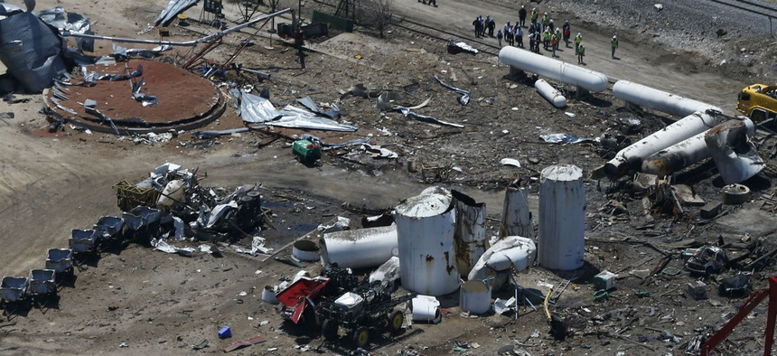 The Chemical Safety Board helped investigate the April 2013 explosion of a fertilizer plant in West, Texas.