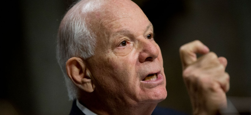 Sen. Ben Cardin, D-Md., introduced a measure to guarantee back pay.