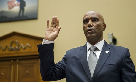 Federal Air Marshal Service Director Roderick Allison is sworn in on Capitol Hill in Washington, Thursday, Sept. 17.