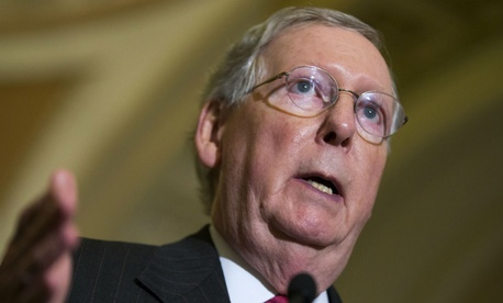 Senate Majority Leader Mitch McConnell introduced the short-term spending bill.