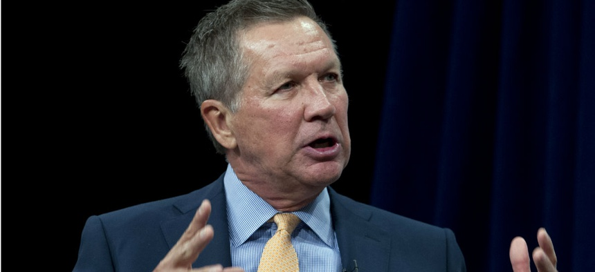 The latest polling average on RealClearPolitics puts Kasich's support at 2.3 percent among primary voters.