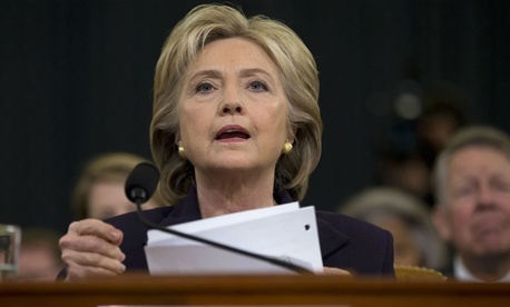 HIllary Clinton testifies before the House select committee on Benghazi.