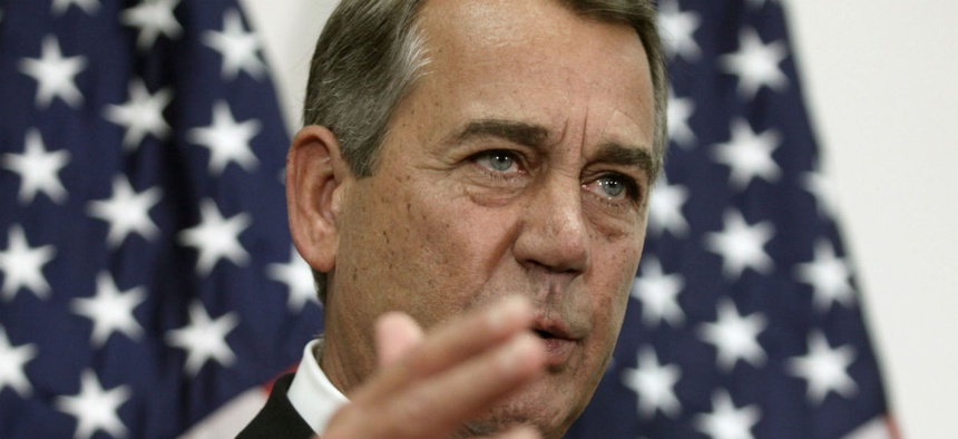 Outgoing House Speaker John Boehner is pushing toward a vote on the budget deal even though it is not popular with conservatives.