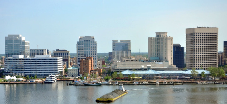 Norfolk, Va., is in one of two new regions recommended for locality pay.