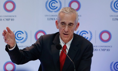 Todd Stern speaks during a press conference at the Climate Change Conference in Lima, Peru in 2014.