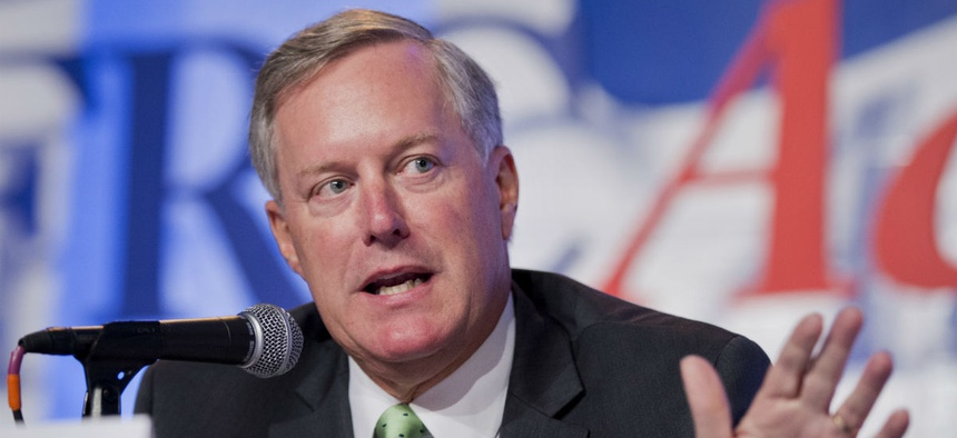 North Carolina Republican Rep. Mark Meadows has been on a listening tour at federal agencies this past year.