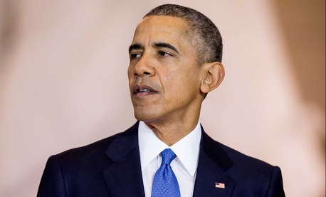 Obama spoke during a commemoration ceremony for the 150th anniversary of the ratification of the 13th Amendment to the Constitution Wednesday.