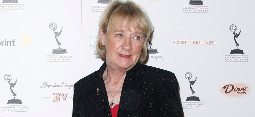 West Wing Kathryn Joosten appears at an Emmy event in 2008.