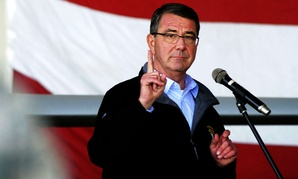Defense Secretary Ashton Carter answers a question while talking to troops Dec. 15 at Incirlik Air Base, Turkey.