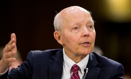 IRS Commissioner John Koskinen testifies on Capitol Hill in Washington in July.