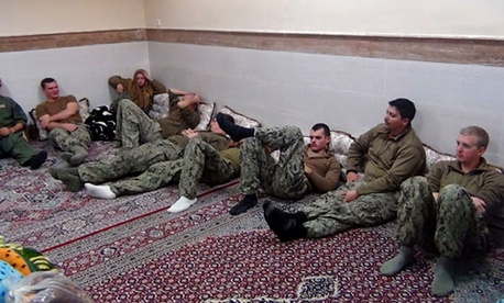 Iran released photos of the detained sailors Wednesday.