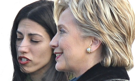 Hillary Clinton and aide Huma Abedin on the campaign trail in 2007. Abedin later worked for Clinton after she became secretary of State.