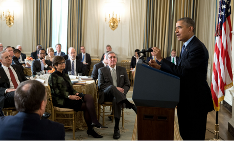 President Obama addresses the National Governors Association on Feb. 22, 2016.