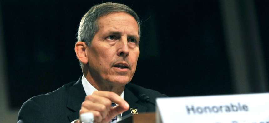 """VA Deputy Secretary Sloan Gibson said, """"We are committed to sustainable accountability."""""""