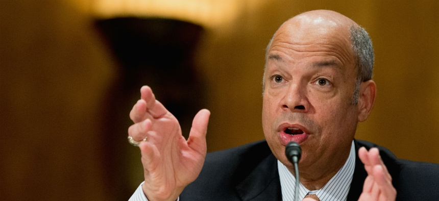 DHS chief Jeh Johnson testifies before the Senate Homeland Security and Governmental Affairs Committee on the department's fiscal 2017 budget request.
