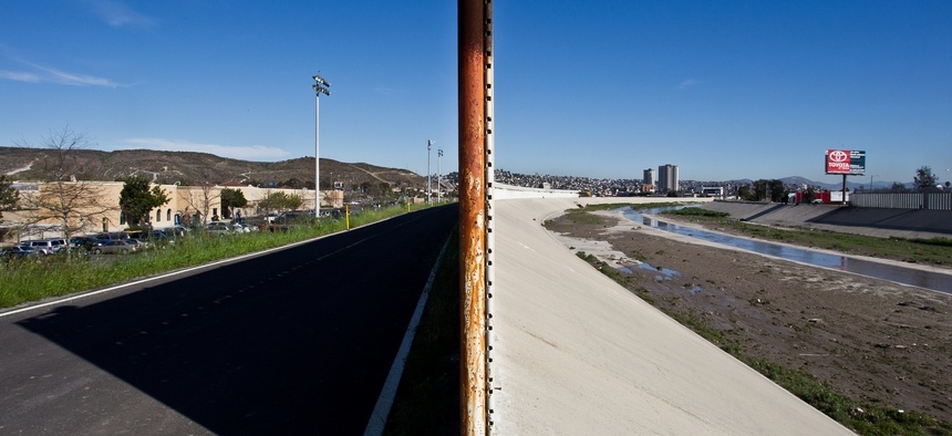The border looks different on each side near San Ysidro, California.