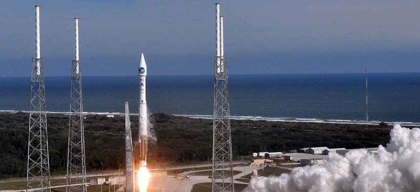 A United Launch Alliance Atlas V with NASA's Solar Dynamics Observatory launches from its Space Launch Complex-41 launch in 2010.