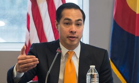 U.S. Department of Housing and Urban Development Secretary Julián Castro speaks in Colorado in March.