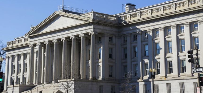 Treasury Department headquarters in Washington.
