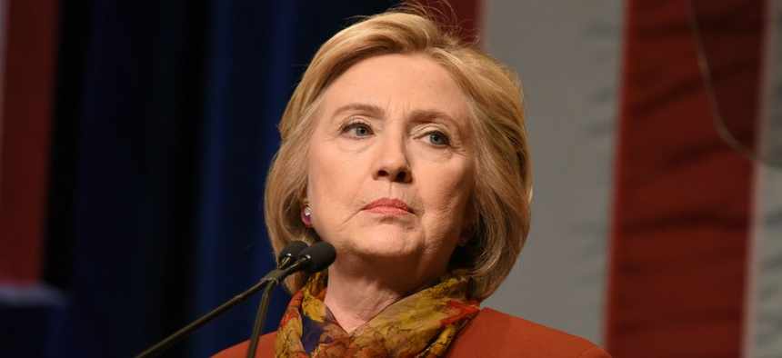 Democratic presidential contender Hillary Clinton