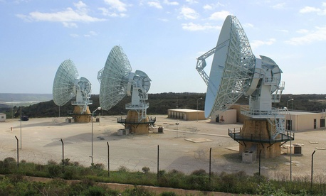 Some MUOS antennae in Niscemi.