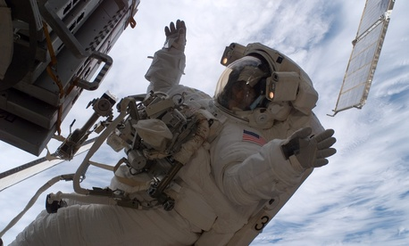 NASA astronaut Sunita Williams participated in three spacewalks.