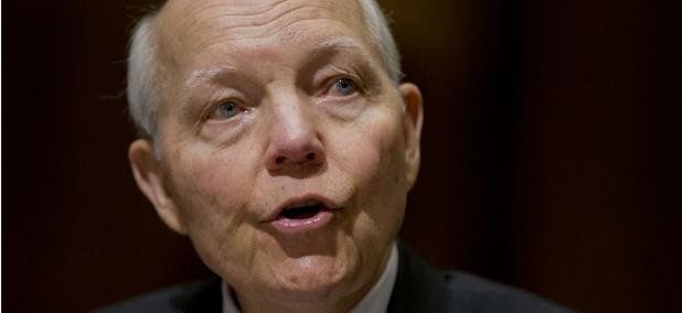 IRS chief John Koskinen testifies on Capitol Hill.