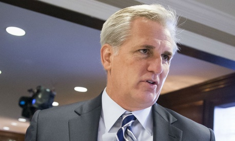 House Majority Leader Kevin McCarthy praised passage of the bonus ban.