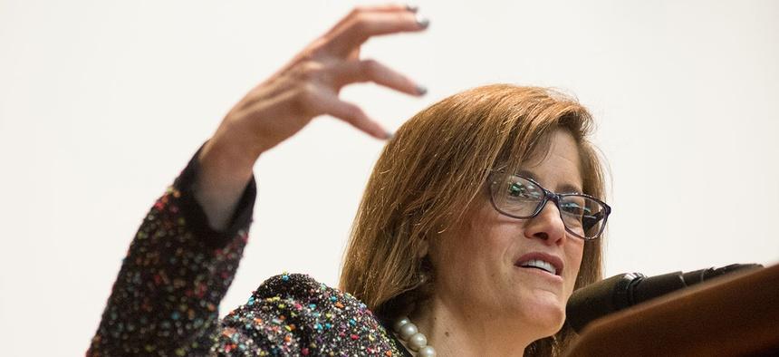 Beth Cobert speaks at USDA in March.