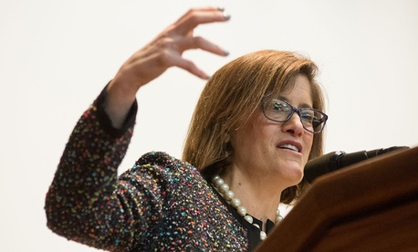 Beth Cobert speaks at USDA in March.