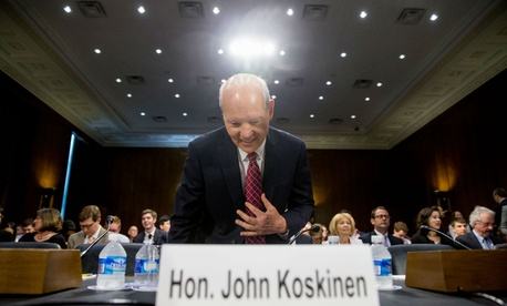 IRS Commissioner John Koskinen testifies on Capitol Hill in July 2015.