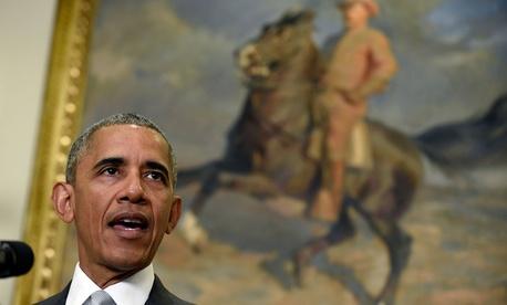Obama spoke from the Roosevelt Room Wednesday.
