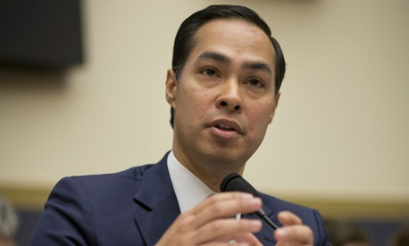 HUD Secretary Julian Castro testifies on Capitol Hill.