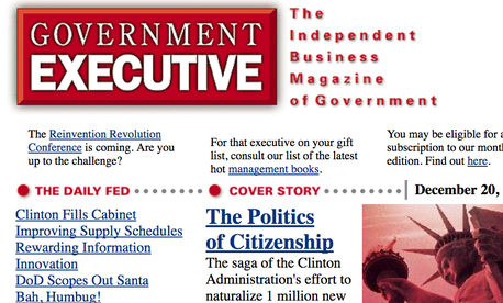 GovExec.com in 1996