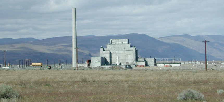View of the B-Reactor at the Hanford Site. The world's first industrial-scale nuclear reactor is a national historical landmark.