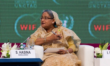 Bangladeshi prime minister Sheikh Hasina speaks at a UN event in 2012.