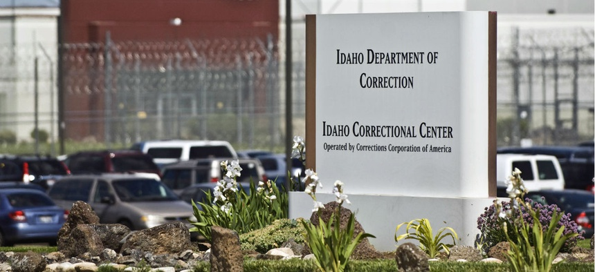 The Idaho Correctional Center in 2010. The facility, south of Boise, Idaho, is operated by Corrections Corporation of America.