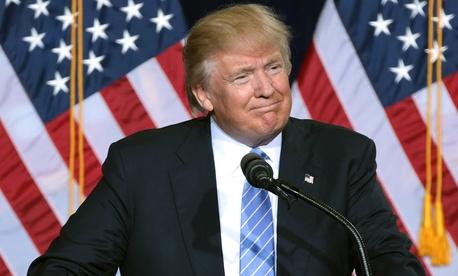 Trump speaks in Phoenix in August.