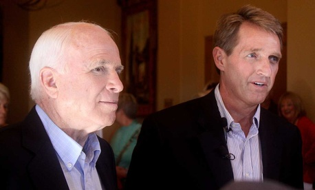 Republican Sens. John McCain and Sen. Jeff Flake of Arizona.