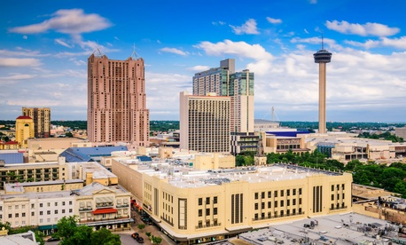 The San Antonio skyline.