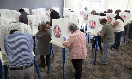 Residents in California vote in 2012.