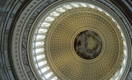 The U.S. Capitol dome.