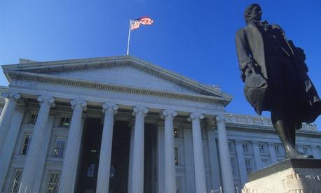 U.S. Treasury Department headquarters.